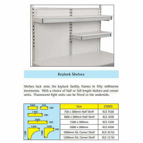 Keylock Shelves Details