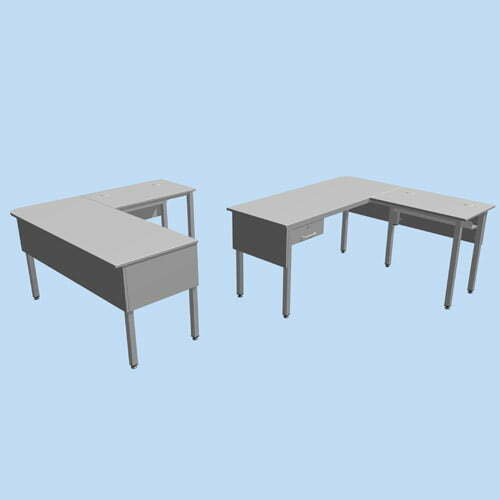 Square End L Shape Teachers Desk